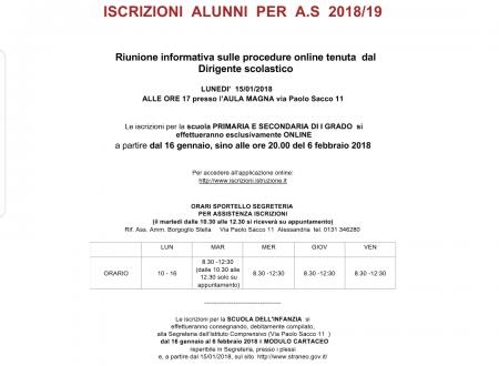 Speciale iscrizioni a.s. 2018/2019